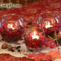 Cranberry Candle Cups - It's A Delight.com