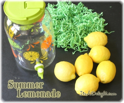 Summer Lemonade Jar - Pin me!