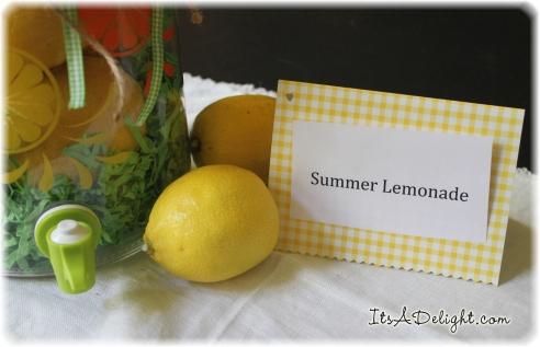 Summer Lemonade Jar Tag