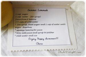 Summer Lemonade Jar Recipe