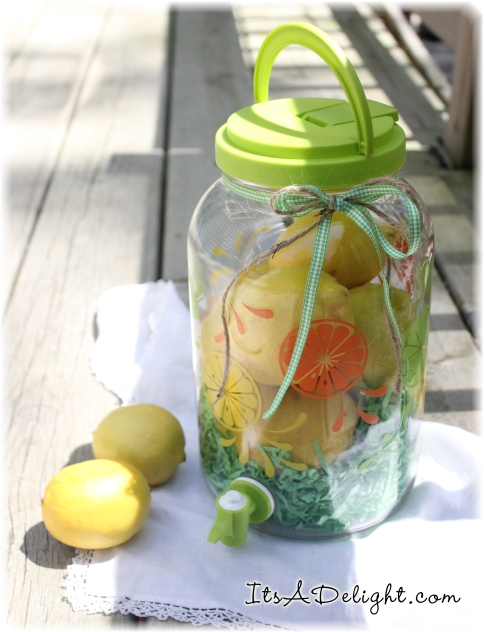 Summer Lemonade Jar - ItsADelight.com