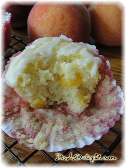 Peach Muffins - It's A Delight.com