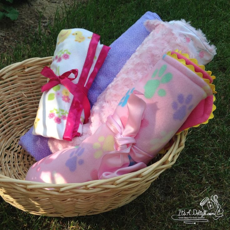 Grandbaby Blankees - easy to sew and cuddly soft!