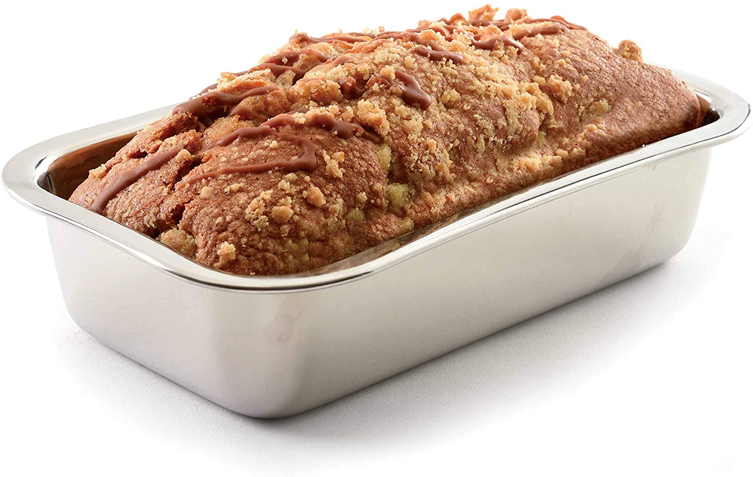 My favorite stainless steel loaf pans that bake out perfect smaller loaves for giving.