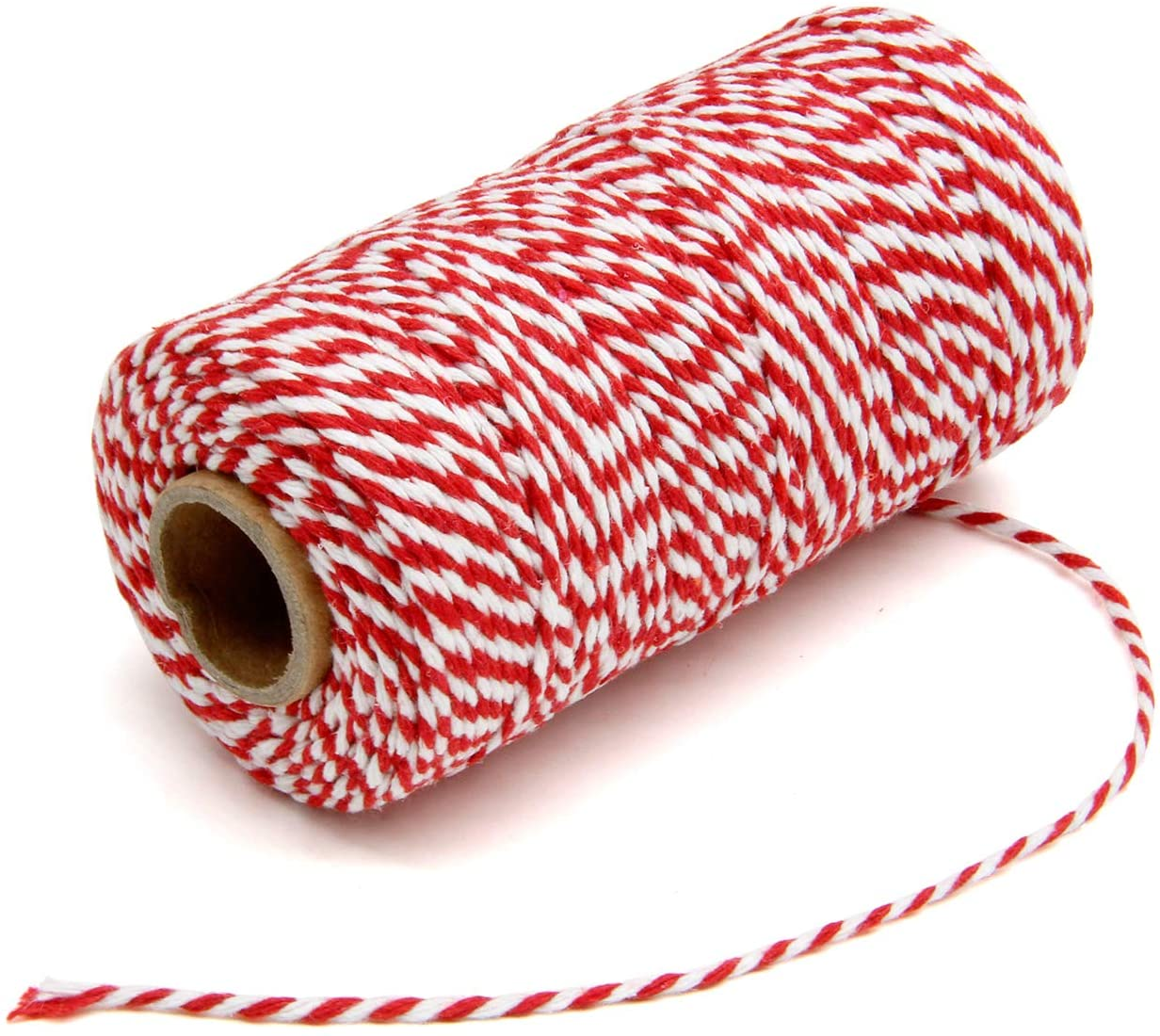 I always keep a few colors of twine on hand. For Christmas, Valentines, birthdays and everything in between like the above