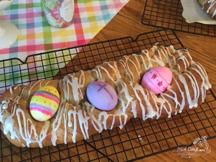 Easter Egg Braided Sweet Bread